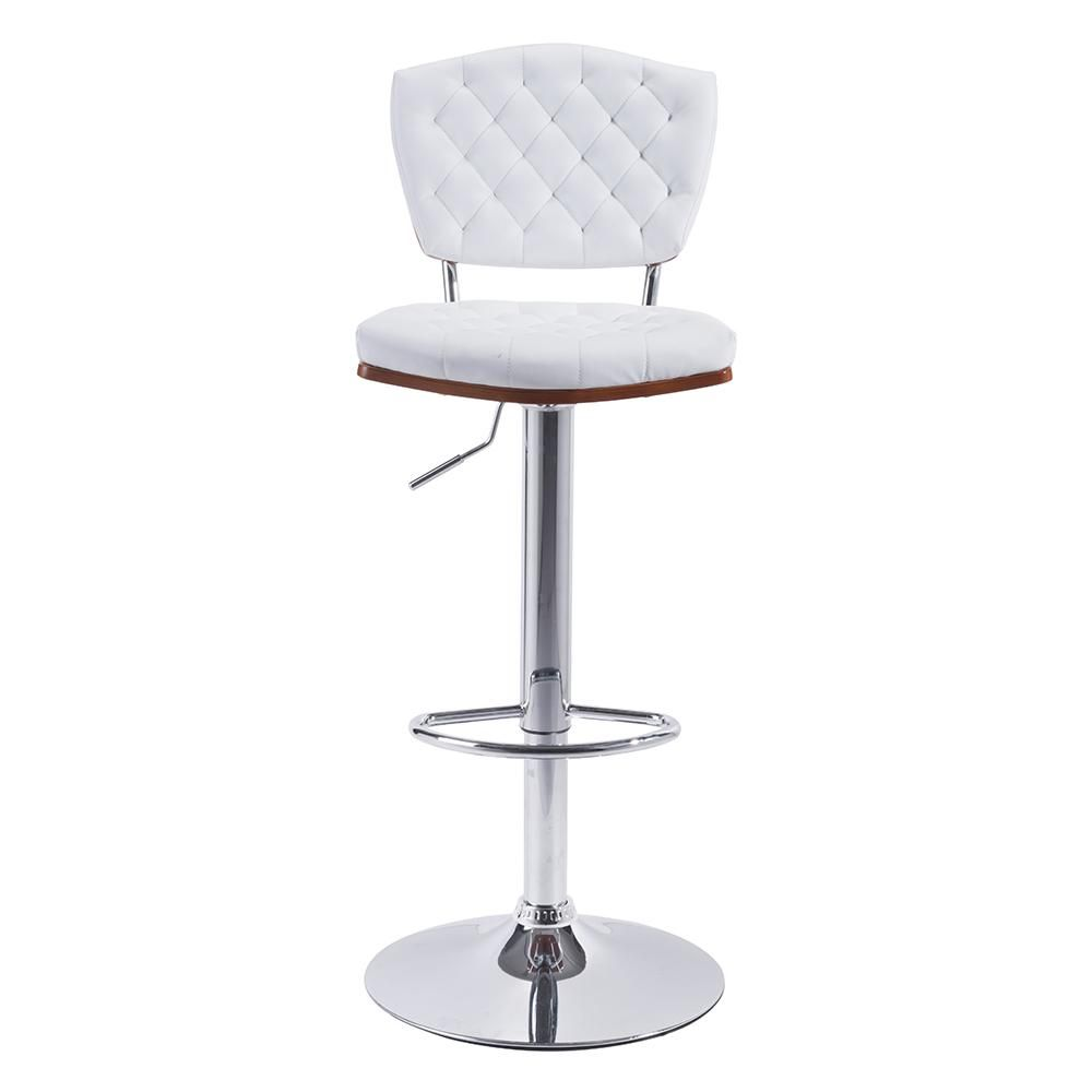 The Tiger Bar Chair Has A Round Base And Footrest In Chrome With Matching Column Featuring Adju Bar Stool Chairs Home Depot Bar Stools White Kitchen Bar Stools
