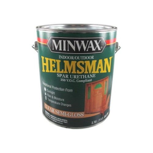 Minwax 13225 Helmsman Spar Urethane Gallon Semi Gloss Natural Bristle Brush Minwax Alkyd Resin