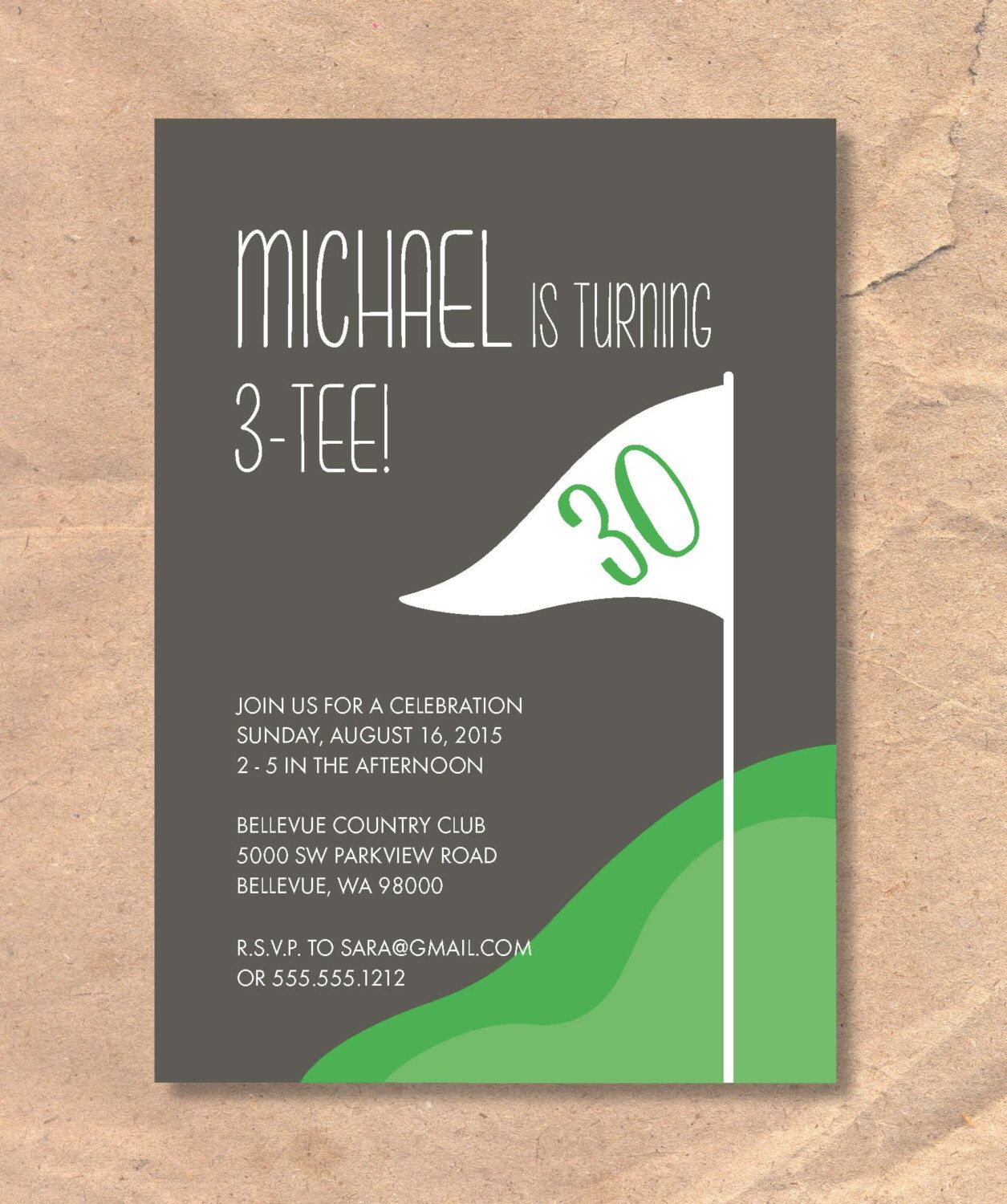 Printable Golf Birthday Party Invitation Themed By FrellaDesigns On Etsy
