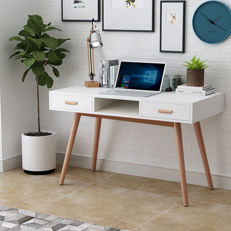 White Oak Legs Scandinavian Style Bedroom Dressing Table Makeup Vanity Home Desk Uk Store Free Shippii White Writing Desk Home Desk Scandinavian Style Bedroom