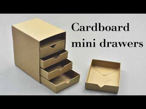 Origami Chest Of Drawers Tutorial Diy Cardboard Furniture Diy