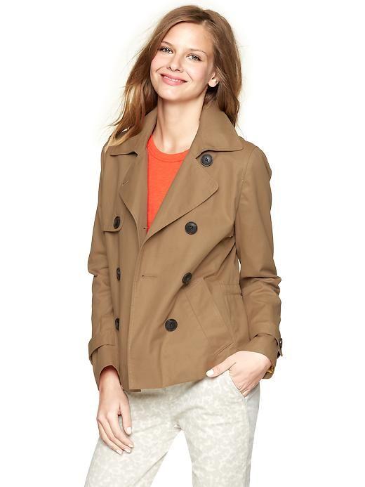 e2a2128aba599 Short trench coat | Gap $69.99 | Elements of Style | Coat, Coats for ...