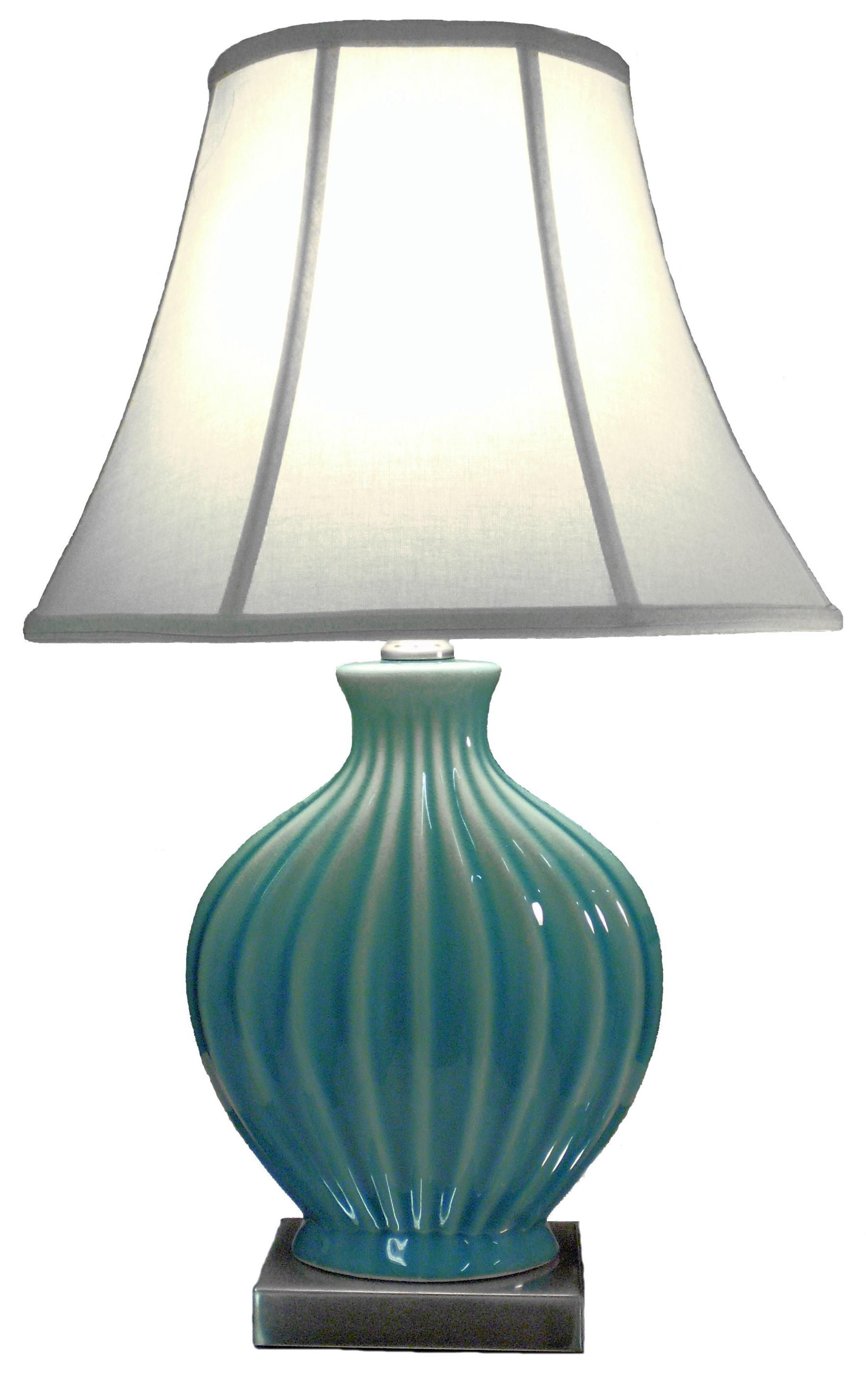 glass signature features table by lamps lamp contemporary teal design on crackle mercury