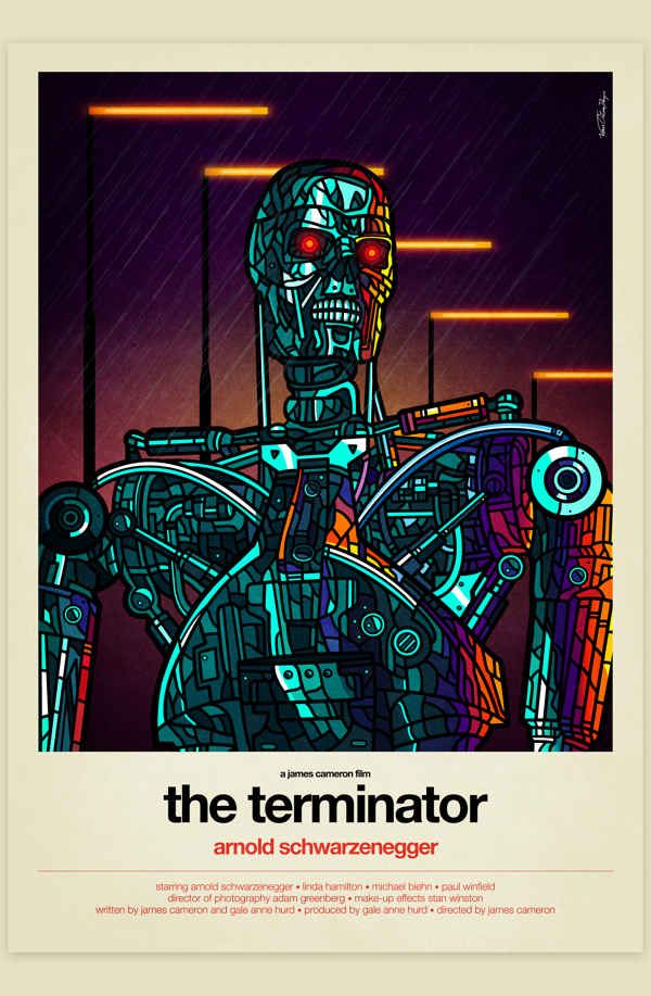 The Terminator (1984) | 8 Modern Redesigns Of Classic '80s Movie Posters #terminator #movies