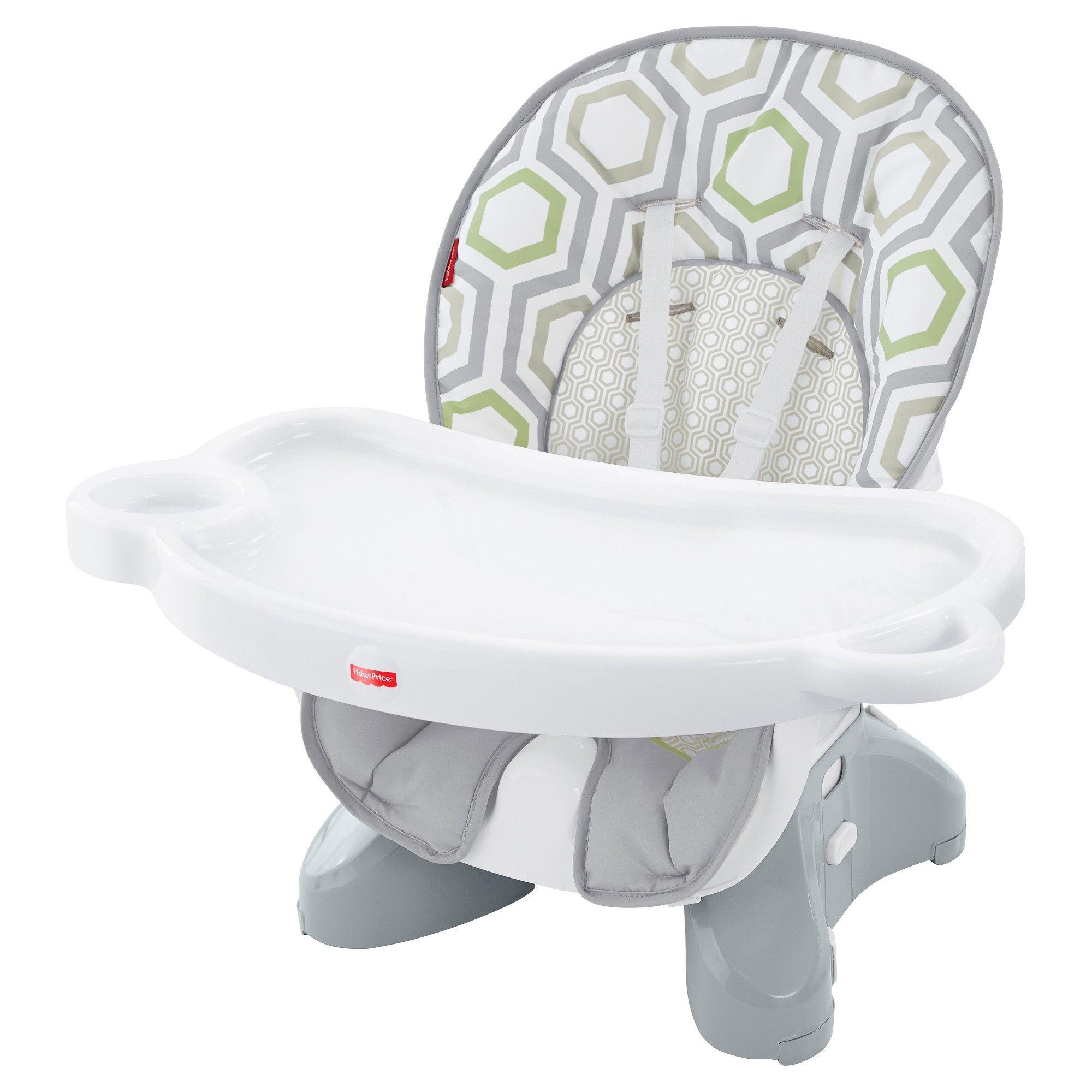 FisherPrice Baby Geometric Print HookOn High Chair Light