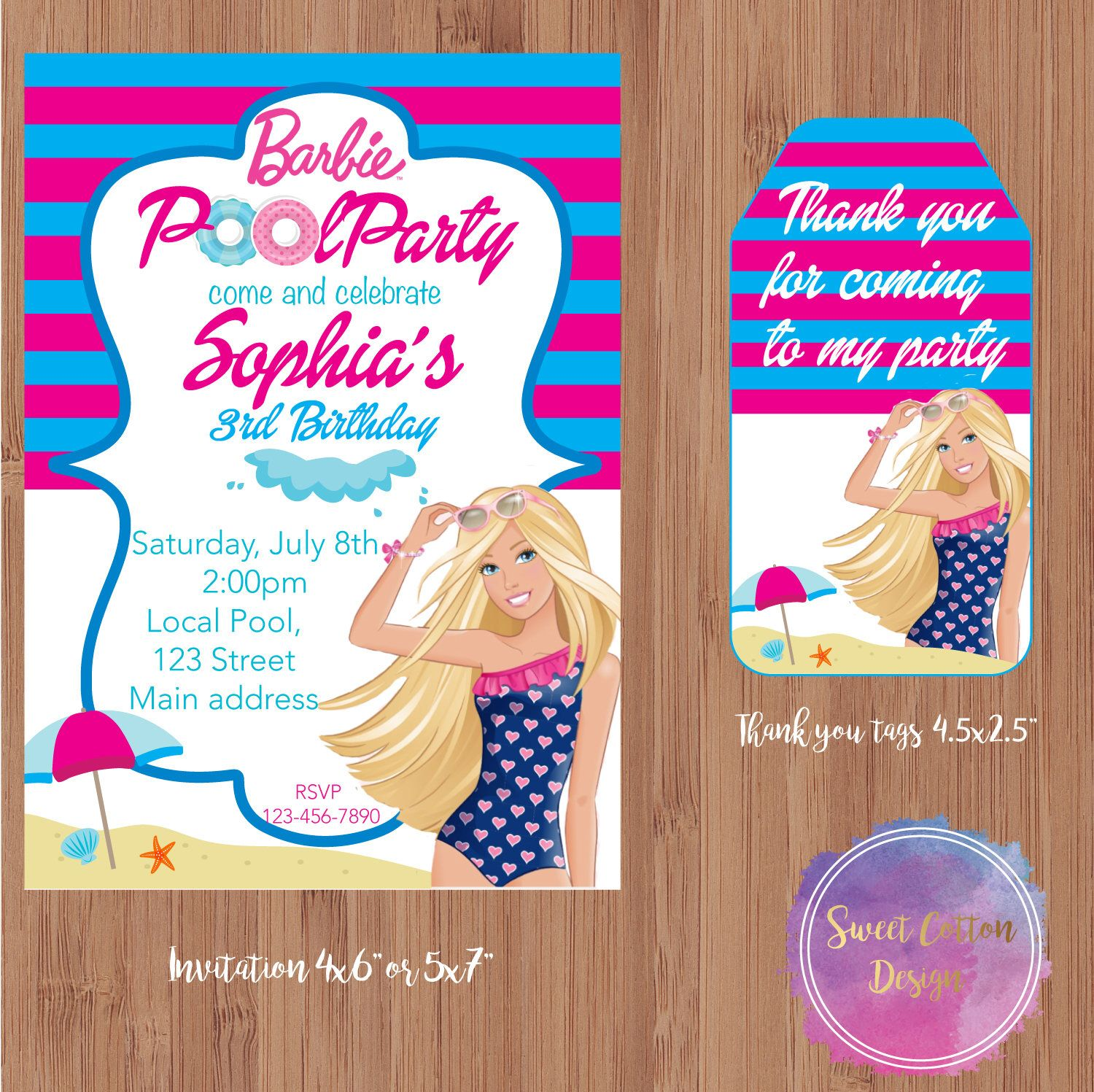 Pool Party Girl Birthday Girl Pool Party In 2019 Barbie Birthday
