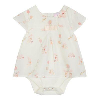 7b4af537474d Baker by Ted Baker Baby girls  off white bunny print mock bodysuit ...