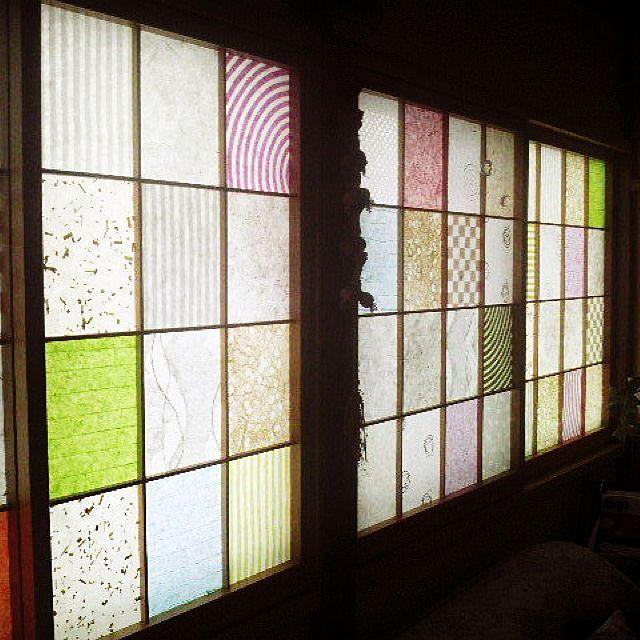 Diy 和紙 障子 壁 天井のインテリア実例 2016 06 12 05 00 20 Roomclip ルームクリップ 障子 障子 リメイク スライドドア