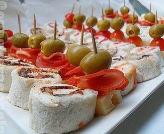 Recetas de ricas de canapes para fiestas - Cocina navidena espanola ...