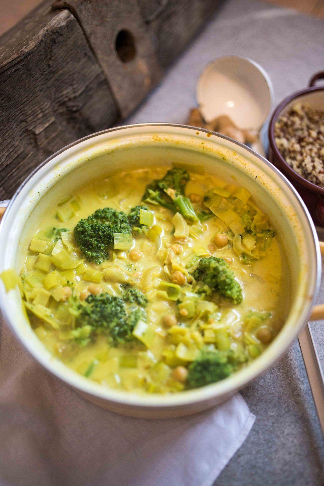 Brokkoli Kichererbsen Eintopf Vegan Und Glutenfrei Rezept Kochen Kichererbsen Eintopf Veganer Eintopf Und Kichererbseneintopf