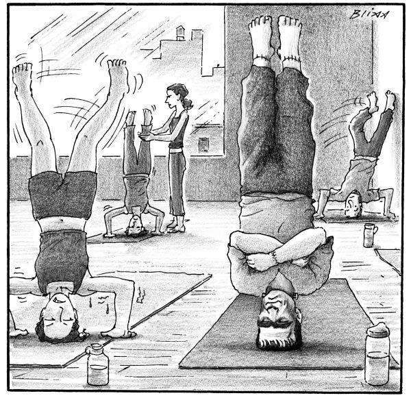 Cartoons From The November 2 2015 Issue New Yorker Cartoons Yoga Cartoon Cartoon