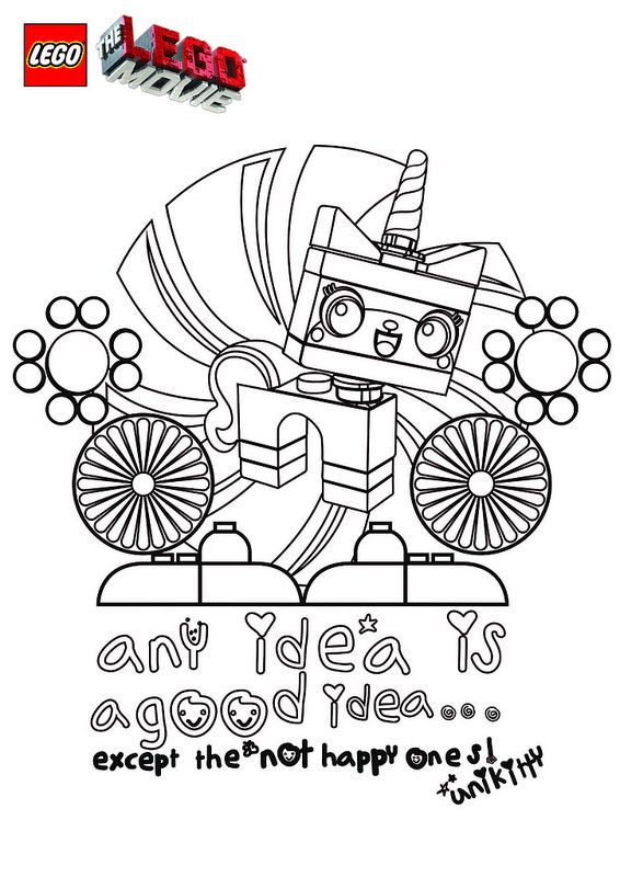 the lego movie coloring pages unikitty projects to try