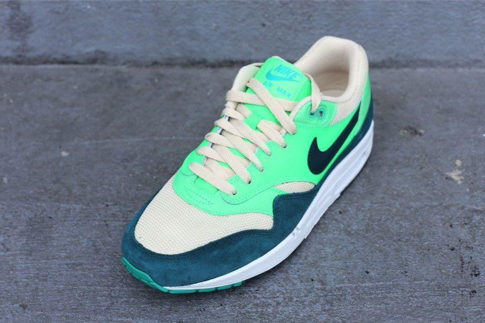 4eee87e05 Nike Air Max 1 Birch Dark Atomic Teal Sail Poison Green 537383-230 ...