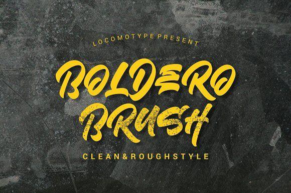 Boldero Brush Creative Typography Design Brush Font Graffiti Font