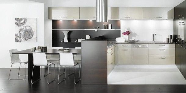 Black White And Grey Kitchen Design  Gray And White Kitchens Simple Black And White Kitchens Designs Inspiration Design