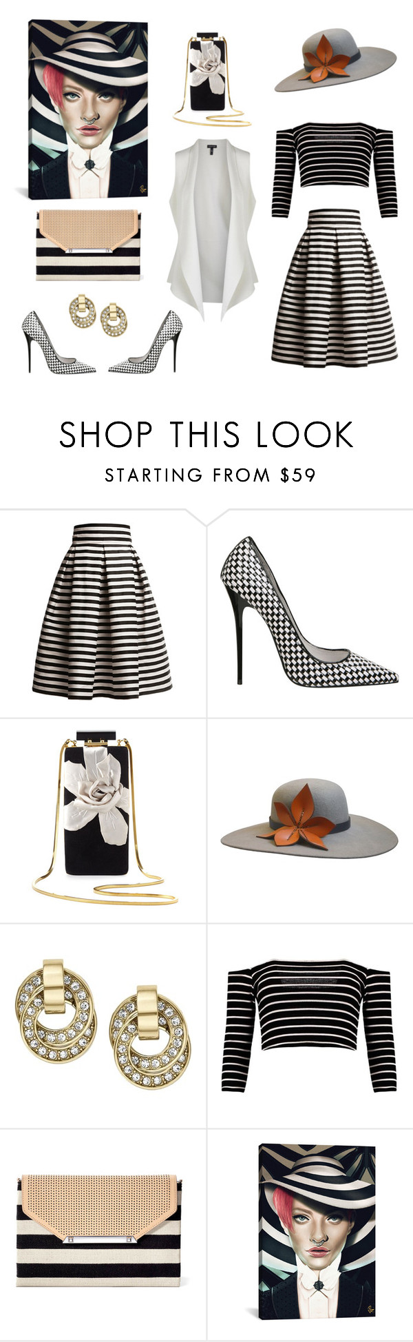 """""""Untitled #76"""" by sanjati ❤ liked on Polyvore featuring Rumour London, Jeffrey Campbell, Lanvin, The Season Hats, Michael Kors, Stella & Dot and Eileen Fisher"""
