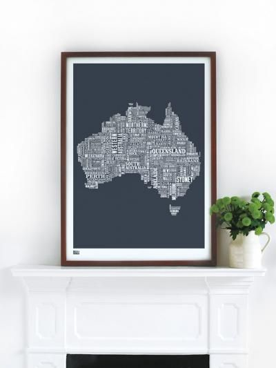 australia map 70x50cm $72