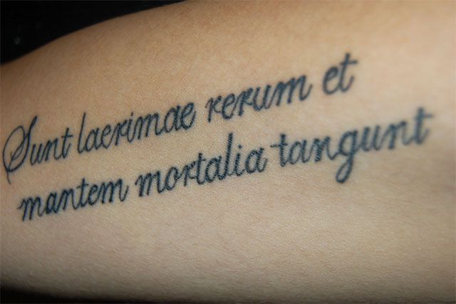 expressions on body: 20 inspiring latin quote tattoos | tattoos