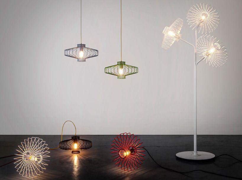 Studio beam bends elegant see through pendants for the sketch