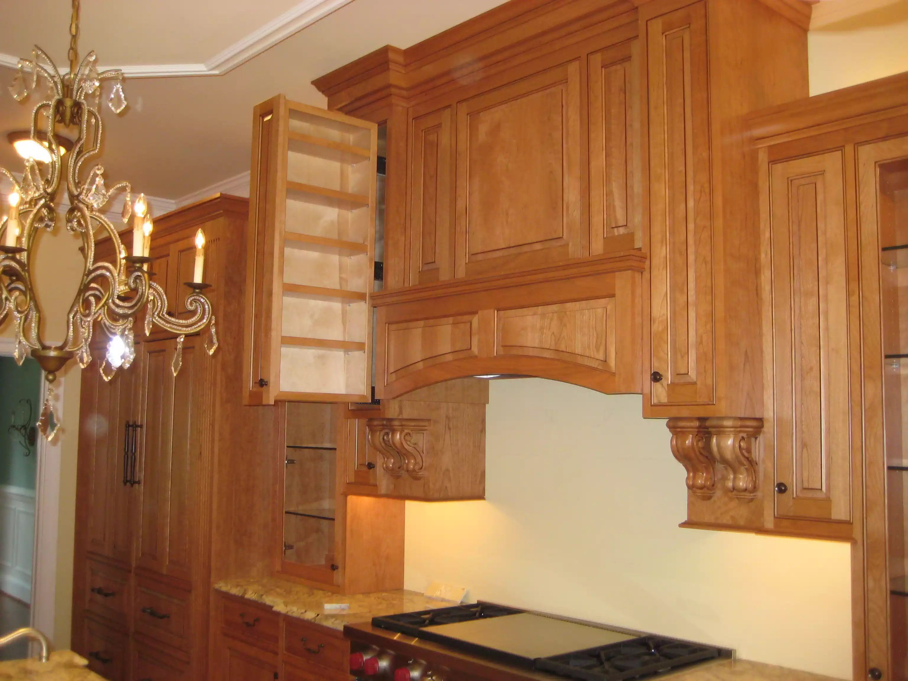 Custom Kitchen: Pull Out Spice Rack By Prestige Cabinets
