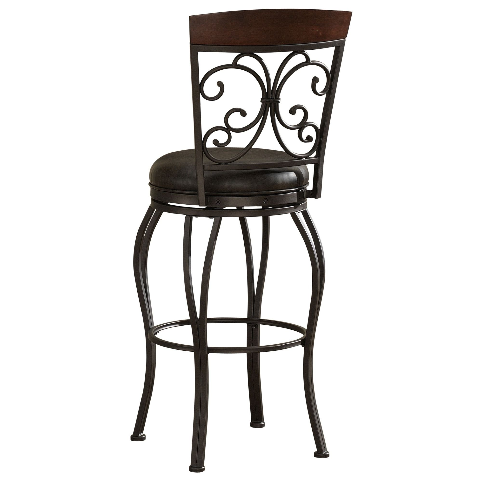 Adalyn 30 Inch Leather Seat Swivel Stool Counter Height