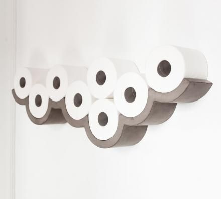 The Cloudy Day Toilet Paper Holder Is A Unique Toilet Paper Holder That Mounts To Your Wall And Resemb Toilet Paper Storage Toilet Paper Dispenser Toilet Paper
