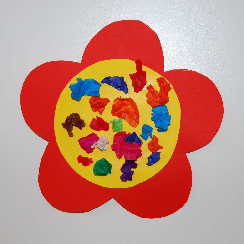 A Lovely And Easy To Make Craft Idea For Toddlers Using Tissue Paper Card