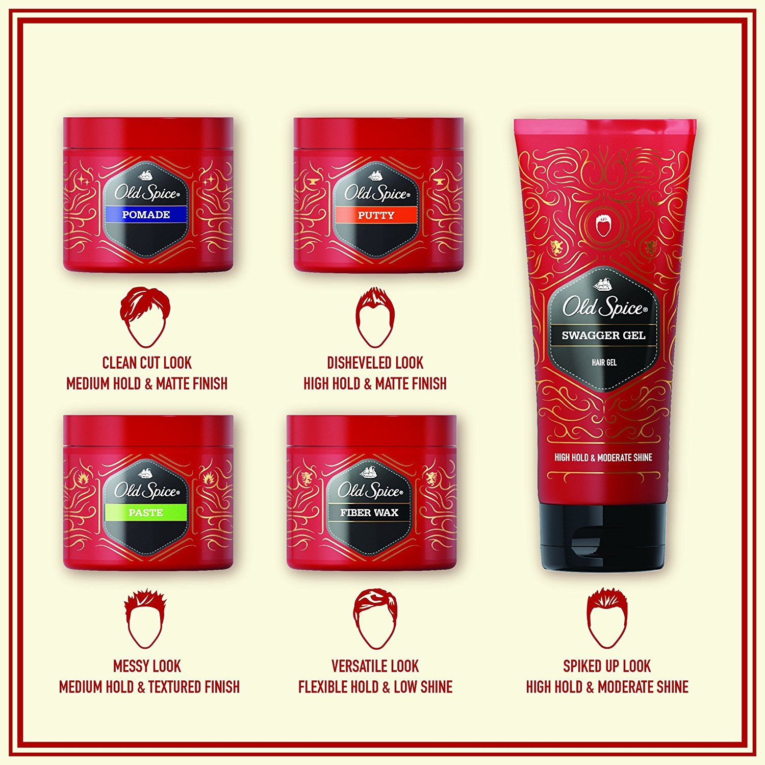Old Spice Hair Styling Swagger Gel For Men 6 7 Fl Oz Old Spice Wax Mens Hairstyles