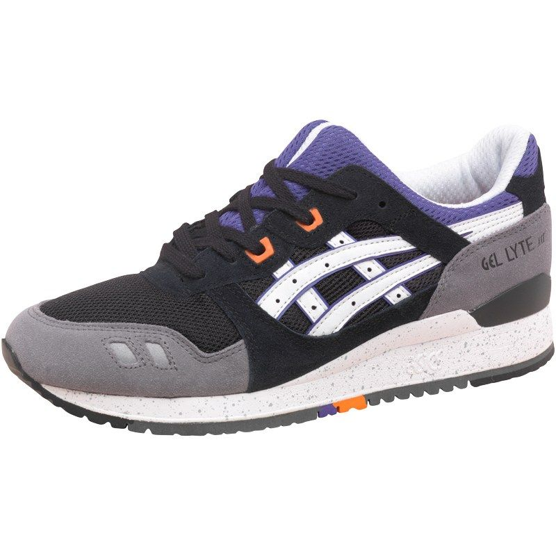 asics tiger mens gel lyte iii varsity pack trainers grey/blue