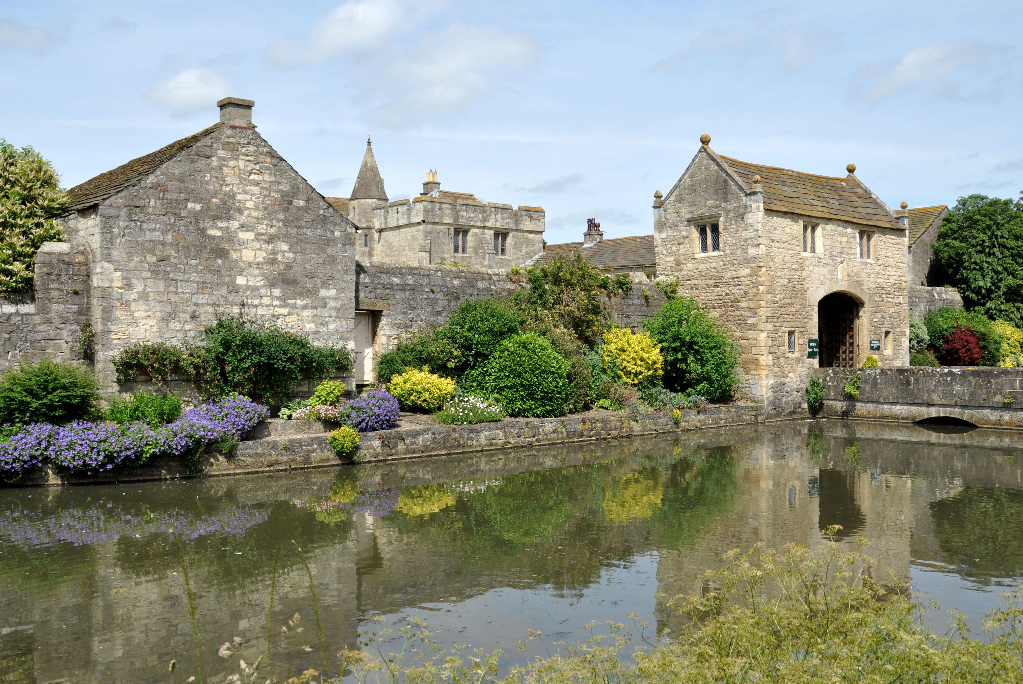 Markenfield Hall near Ripon a 14th century moated farm house