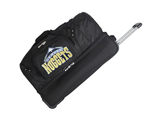 Denco Sports Luggage Denver Nuggets Black Bottom Duffel