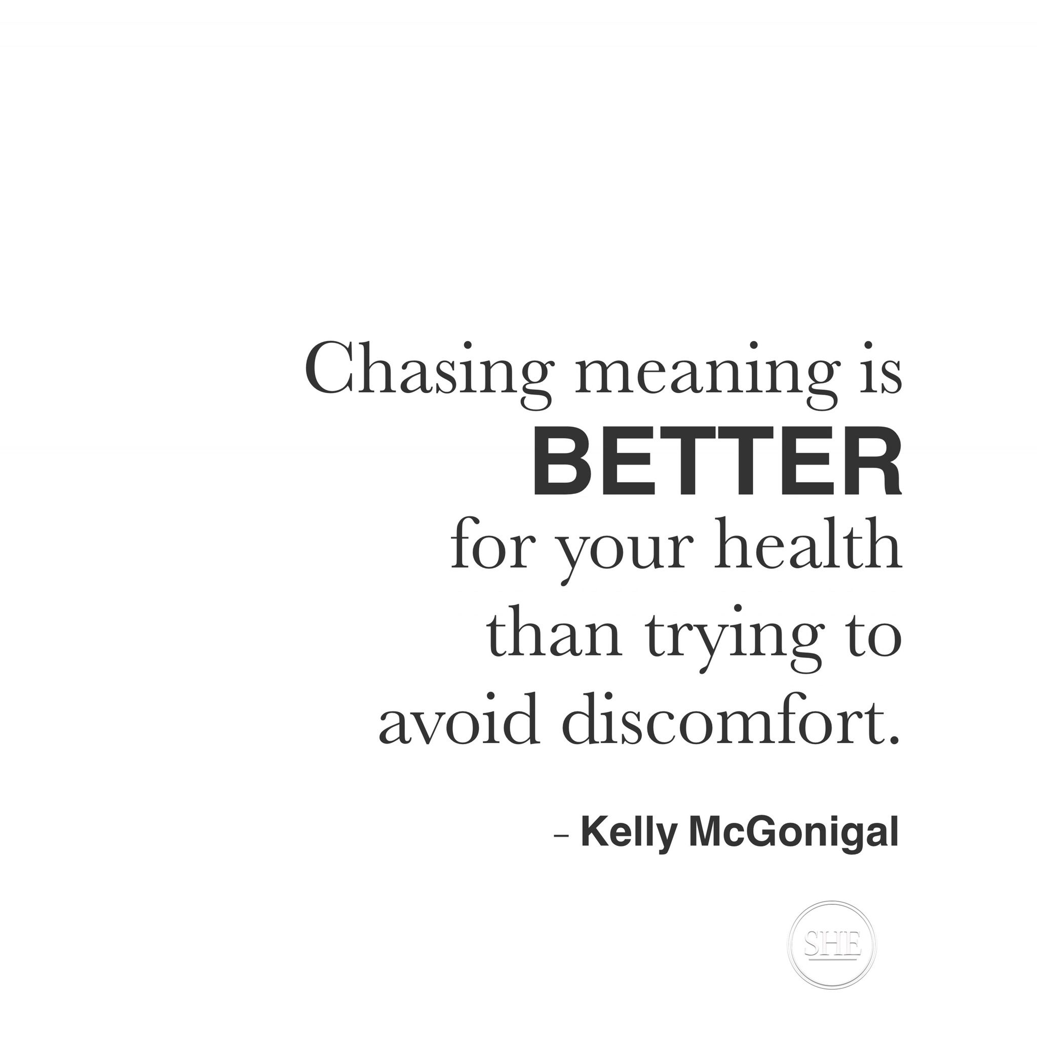 Chasing Meaning Is Better For Your Healthy Than Trying To Avoid