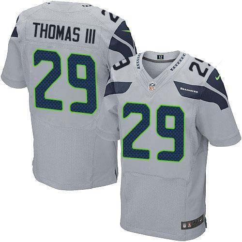 Men's Seattle Seahawks #29 Earl Thomas III Gray Alternate NFL Nike Elite Jersey