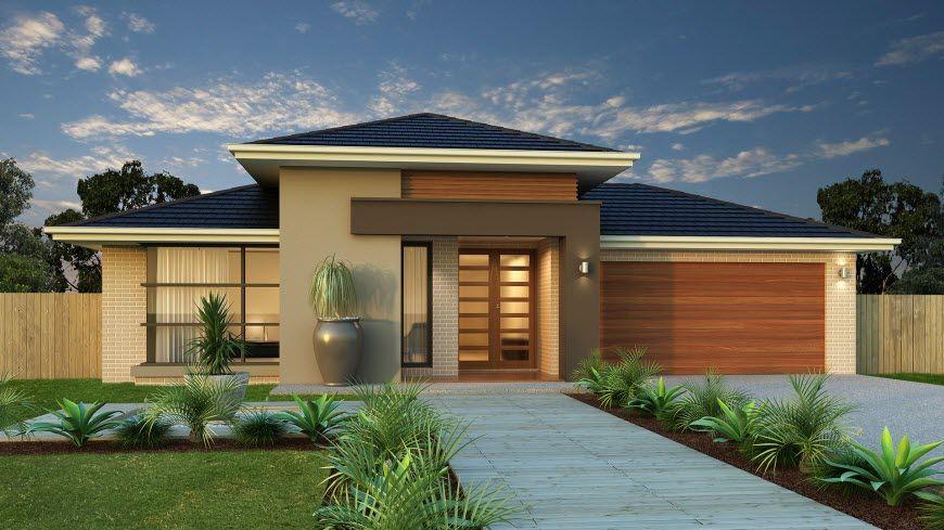 Diseño De Casa De Una Planta Con Planos Y Fachadas Modern House Facades Facade House House Exterior