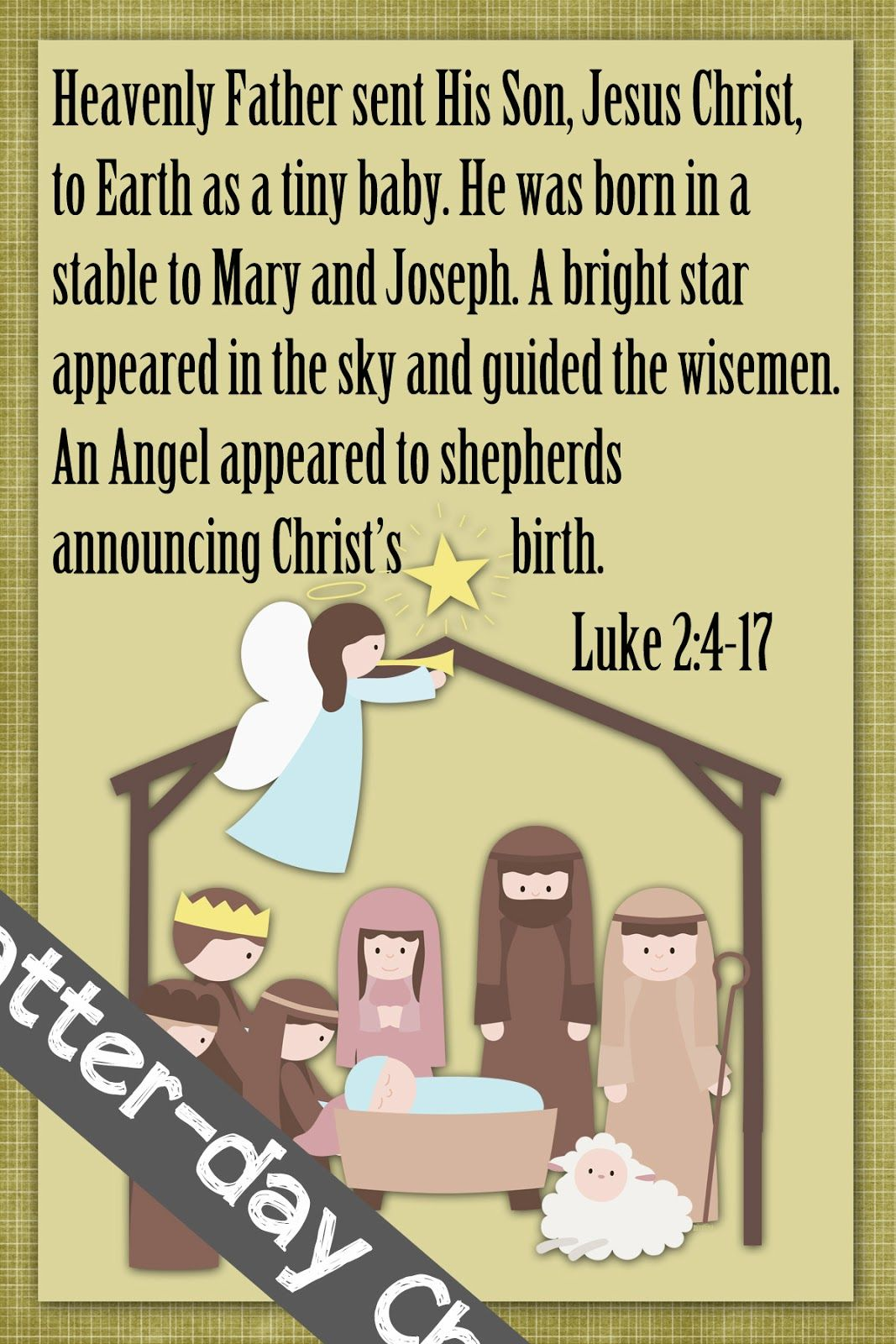 Latter-Day Chatter: December Sharing Time WK 1