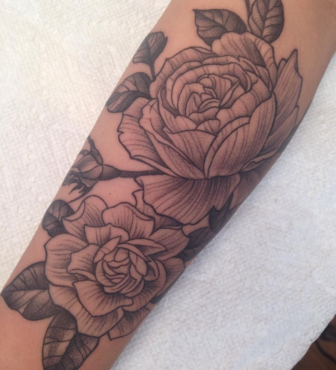 Cabbage Rose And Gardenia Memoirtattoo Memoirtattoo Gardenia