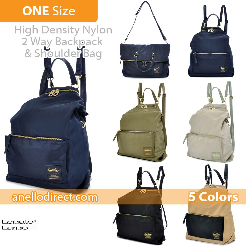 d18241a9f4 Legato Largo High Density Nylon 2 Way Backpack Rucksack and Shoulder Bag  LH-K1041 Free delivery shipping to worldwide