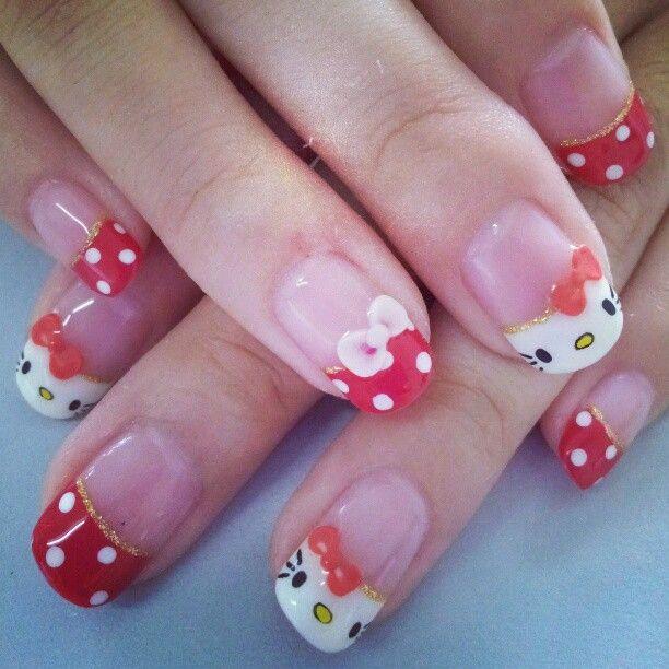 Hello Kitty Nail Design Nails Pinterest