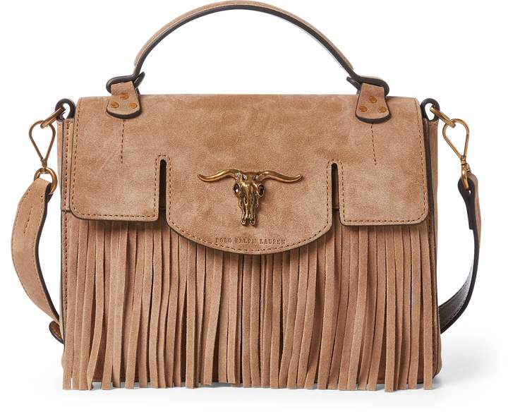 e591850f23 Ralph Lauren Suede Small Schooly Bag | Leather | Bags, Handbag ...