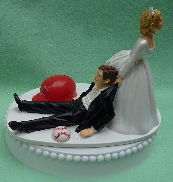 Funny Wedding Garters: Wedding Cake Topper Los Angeles Angels Of Anaheim LA