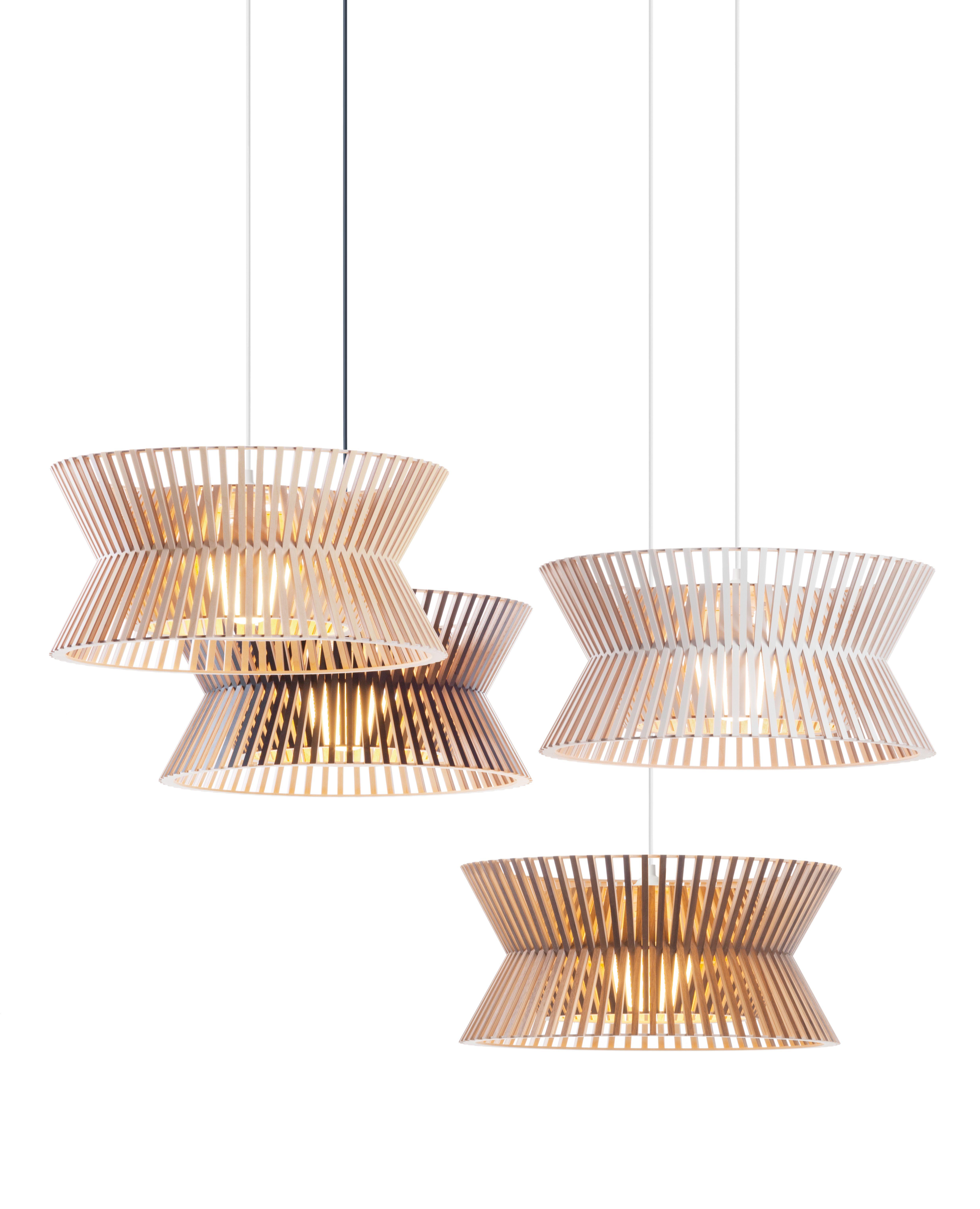 Kontro Hängeleuchten aus Holz / wooden lamps by Secto