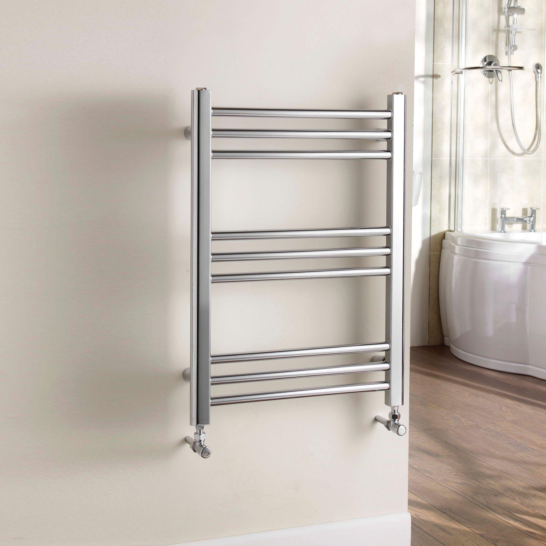 Small heated towel rails for bathrooms - Heated Towel Rail In Chrome B Q Kudox Timeless Towel Warmer Chrome