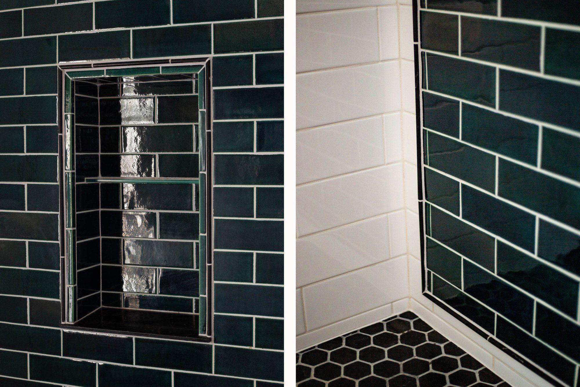 Bluegrass Subway Tile Shower With A Stunning Niche Subway Tile Showers Shower Tile Subway Tile