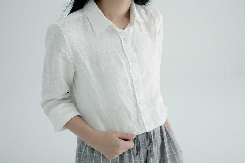 MUJI 無印良品 的 棉麻襯衫