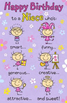 Images Of Humorous Niece Birthday Card Wallpaper