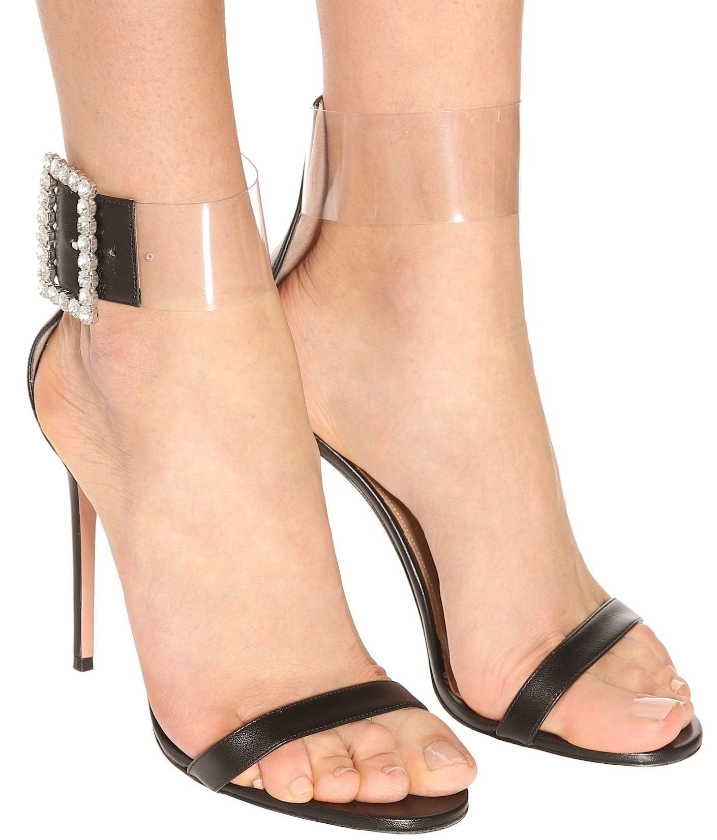 25677006ff0e Stand tall in Aquazzura s striking Casablanca sandals