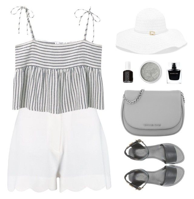 Monochrome Summer by sweetpastelady on Polyvore featuring polyvore, fashion, style, MANGO, Charlotte Russe, Michael Kors, Melissa Odabash, Terre Mère, Narciso Rodriguez, Essie and clothing