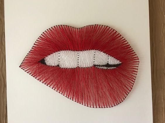 Maravilloso arte con hilos tensados - Muero de amor por la deco