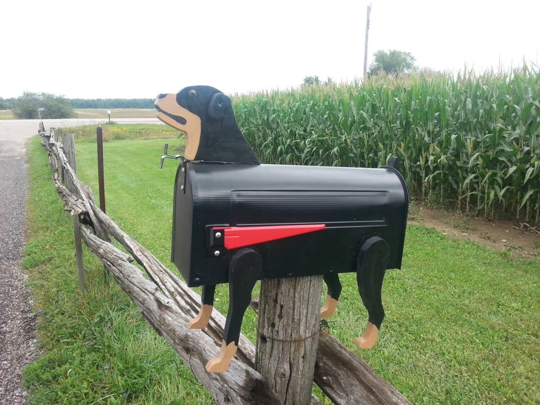 dog mailbox / dog mailbox / Rottweiler mailbox / rotti mailbox / rural mailbox wooden dog mailbox by JulieEvesWoodworking on Etsy https://www.etsy.com/listing/203275397/dog-mailbox-dog-mailbox-rottweiler
