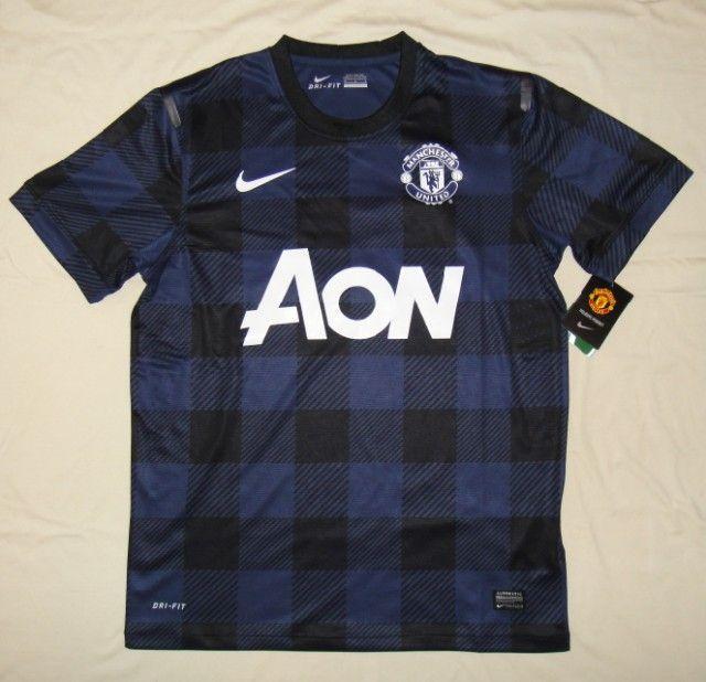 13-14 cheap Manchester United Away Black Jersey Shirt